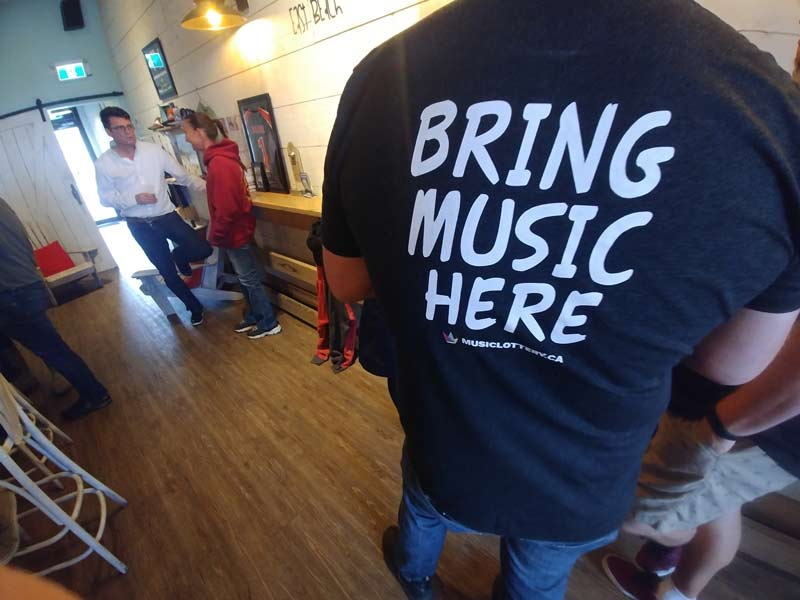 Bring music here t-shirt